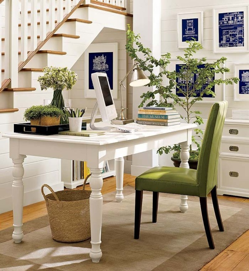 Office Design Home, Beauty and the Green: Update, Organize And Refresh Your Home Office. Yes You Can!