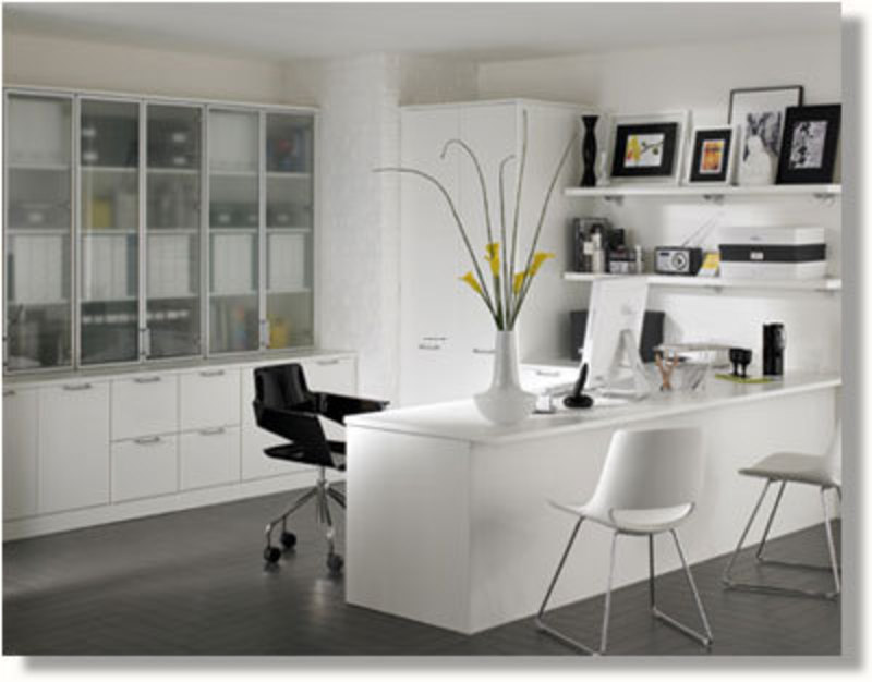 Contemporary Home Office Design Ideas: Modern Home Office Design With Luxury Decorating / Design