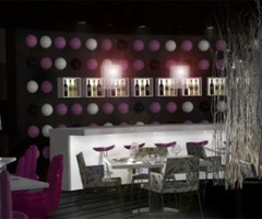 Purple Cafe Interior Design by Jan Schreiner