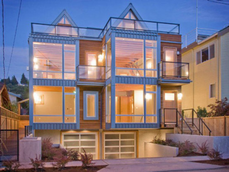 Simple Modern Town Houses Design Ideas Half Block From The Beach Alki Townhomes Design