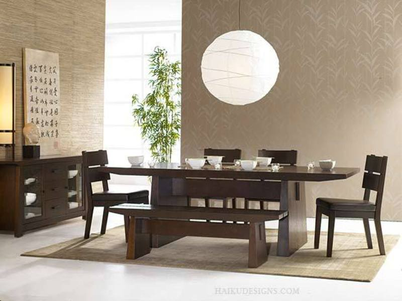 Dining Room Furniture Modern Asian And Japanese Design Bookmark 3413