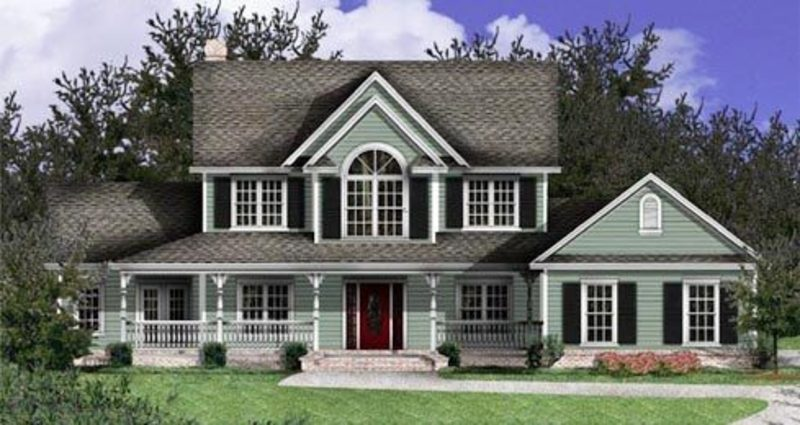 Country home plans and country style house designs for the do it yourself builder design - Chic country house architecture with adorable interior design ...