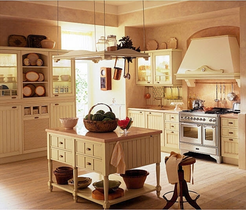 Traditional Painted Wood Kitchen Country Style Design