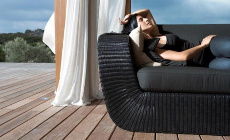 Lounge Outdoor Furniture, Outdoor Sofa and Lounge Chair from Cane