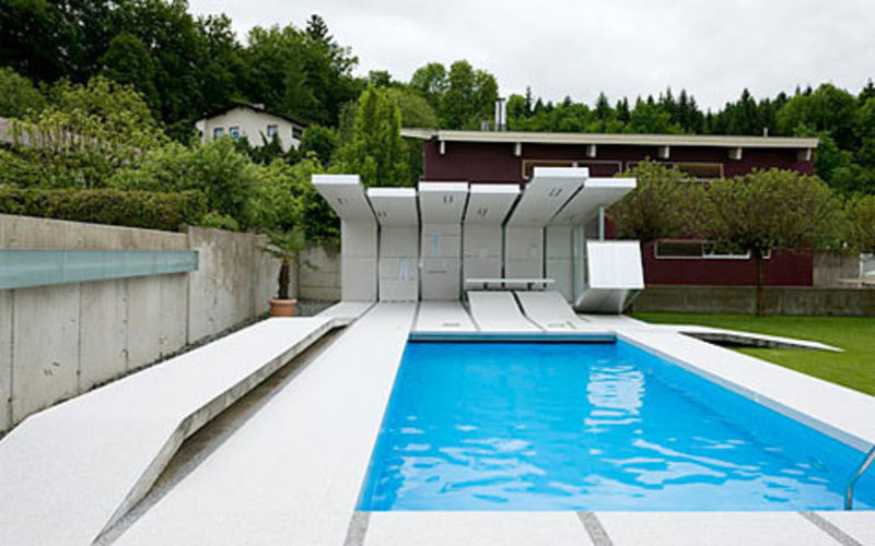 Modern and advanced private pool design by heri design for Private pool design