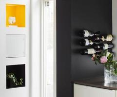Cool Wine Rack at Stunning Modern Family House Design Ideas 