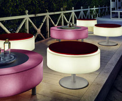 Modern Outdoor Lighting Concept, Integrated with Outdoor Furnitures