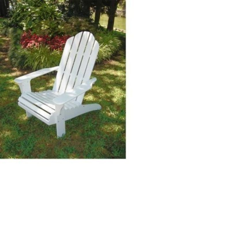 Outdoor patio adirondack beach chair white design for Chaise de patio