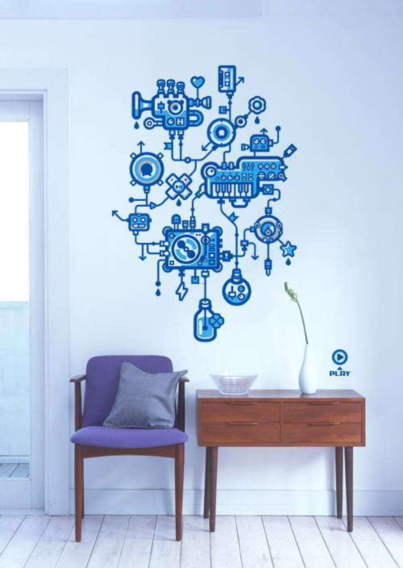 Decorative stylish and creative stickers for wall decor Images of wall decoration