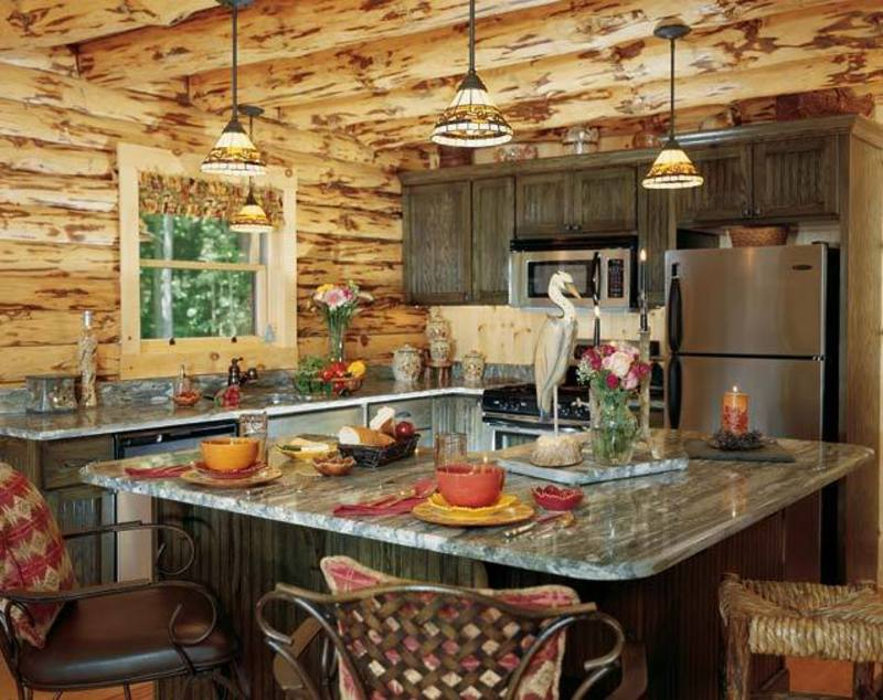 Rustic decoration ideas on pinterest logs rustic for Rustic kitchen designs