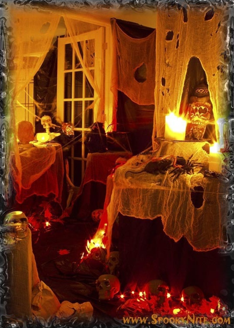 How to make your home ready for halloween design for Home halloween decorations