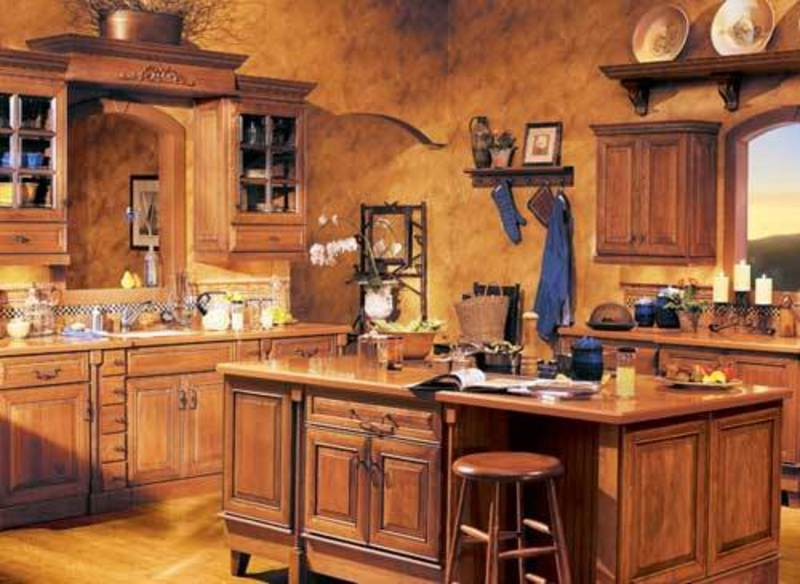 Rustic Mexican Kitchen Design Ideas ~ Rustic wooden kitchen shelves design bookmark