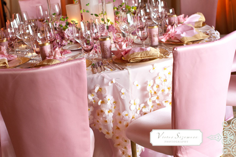 Australia Entertains Blog Archive Lavish Pink Wedding Reception Table Dec