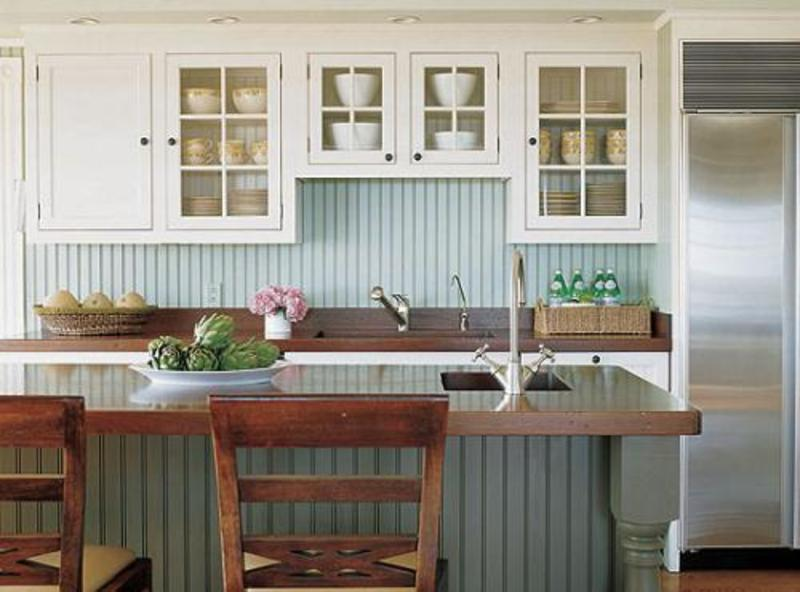 Kitchens cottage style design bookmark 3777 for Bungalow style kitchen cabinets