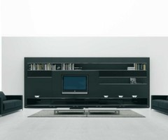 Elevenfive Black Wall Mounted Modern TV Cabinets for Small Living Room Design 2 By MDFItalia