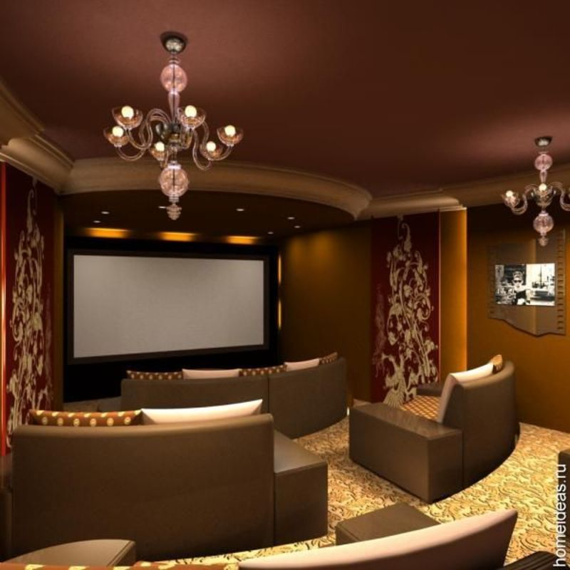 Media room design ideas furniture and decor for home for Home theatre decorations
