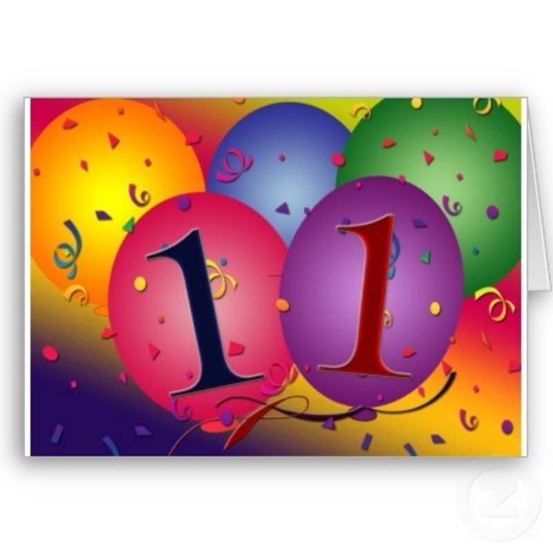 11th Birthday Party Balloon Decorations Greeting Cards From Zazzle