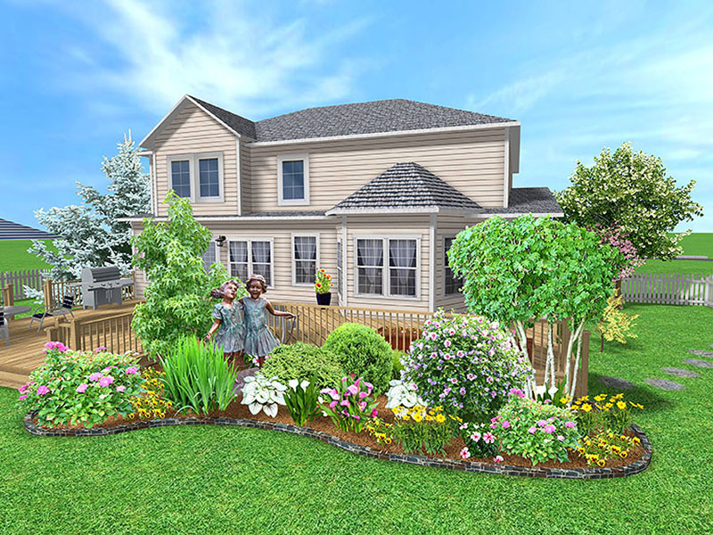 Building ideas front lawn landscaping ideas entrances or for Landscaping ideas around house