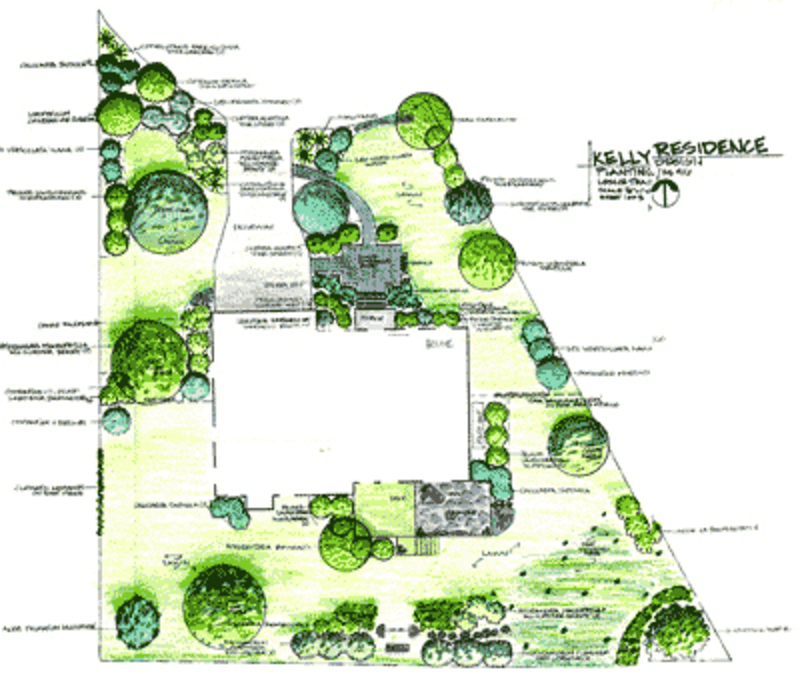 How to draw landscape plans design bookmark 3984 for Landscape plan drawing