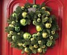 Cool Christmas Wreath Decoration Ideas for Exterior Door