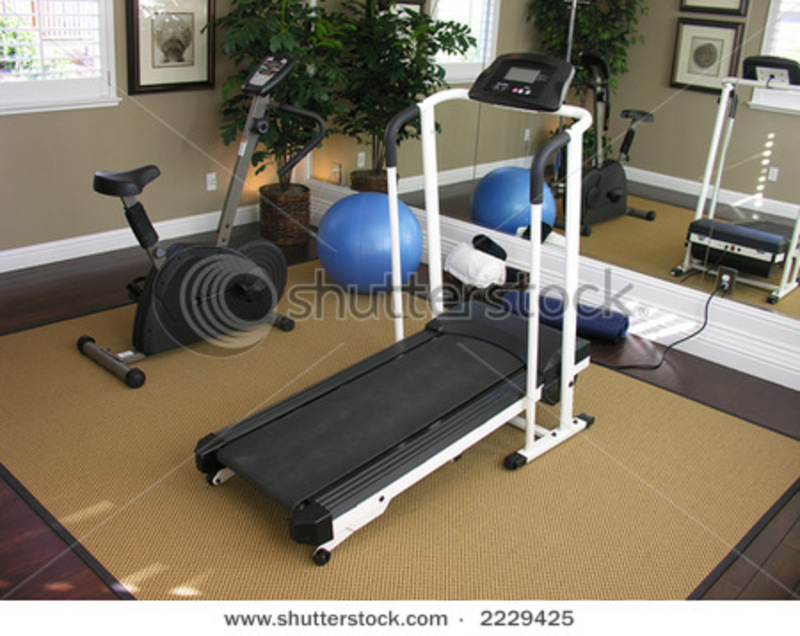 An Exercise Room Inside A Residential Home Stock Photo 2229425 ...