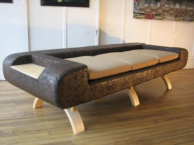 Latest Sofas Design, Trevor O'Neil Cork sofa