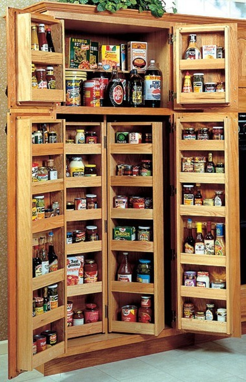 Choosing a kitchen pantry cabinet design bookmark 4110 for Pantry ideas for a small kitchen