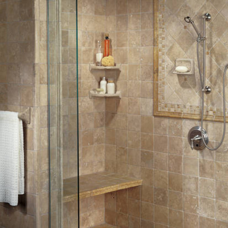 Bathroom shower ideas design bookmark 4151 for Travertine tile bathroom gallery