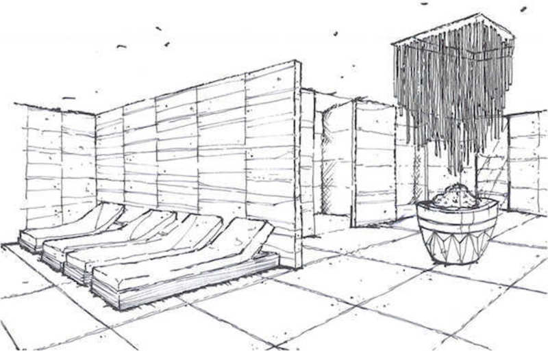 Hotel Spa Design Ideas, Istanbul Edition Hotel Spa  Drawing 03 Design Ideas by Hirsch Bedner Associates