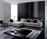 Black and White Living Room Design Theme in Modern Contemporary Decorating Style by Rodolfo Dordoni