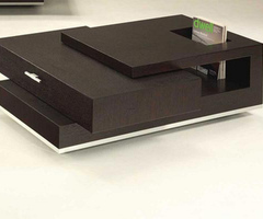 Coffee table design with bookcase