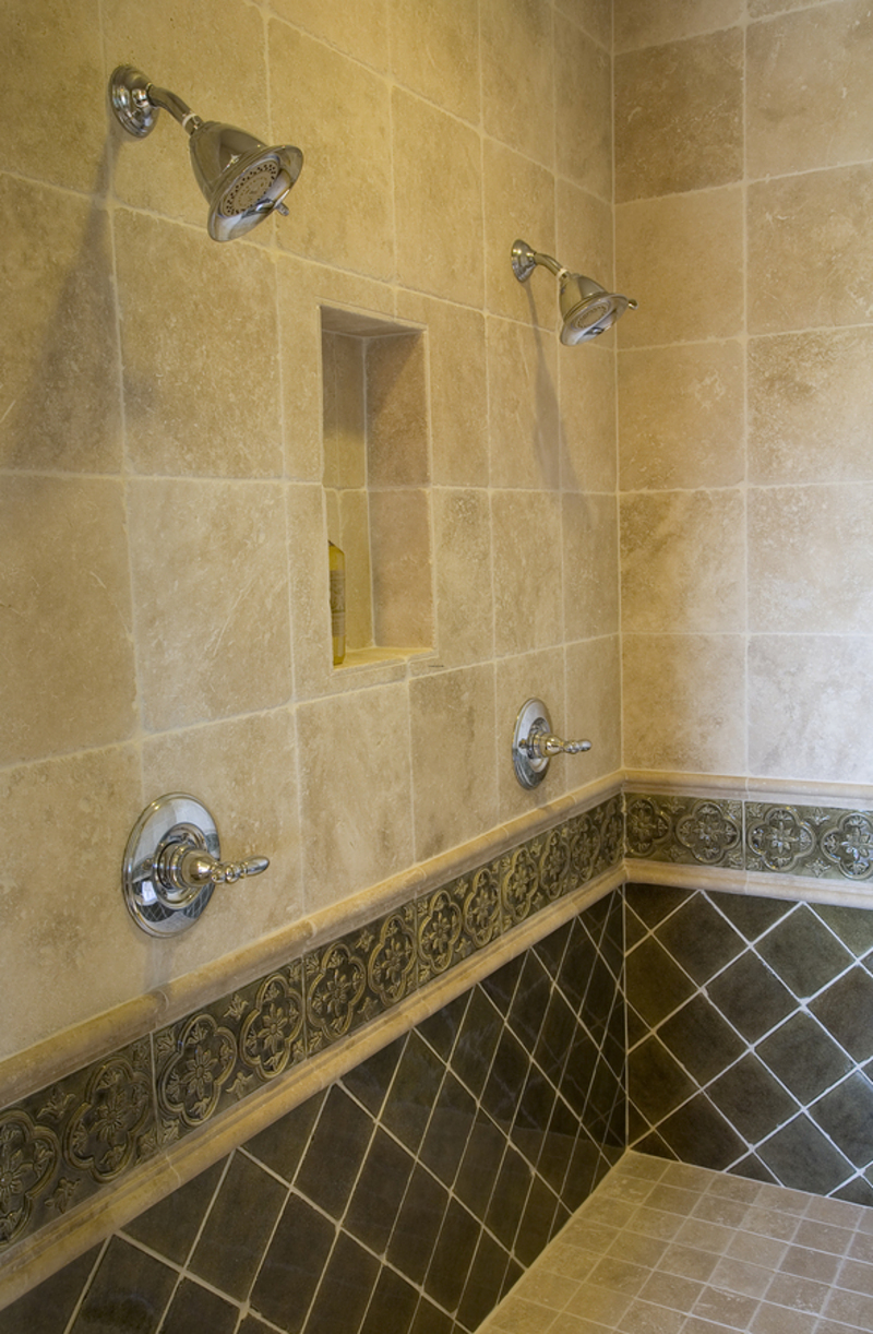 Bathtub Shower Ideas, Bathroom Shower Box with Light Fixtures