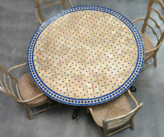 Mosaic Moroccan table tops handmade in Morocco