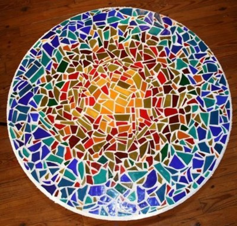 Marvelous Bistro Tables Handmade Chess Coffee And Custom Mosaic Stained