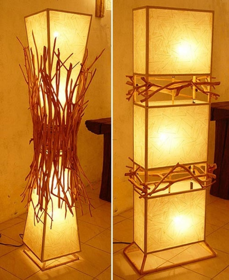 Wall Lamps Design : Wood Base Eco Friendly Wall Lighting Design By Lamp Art Design / design bookmark #4358