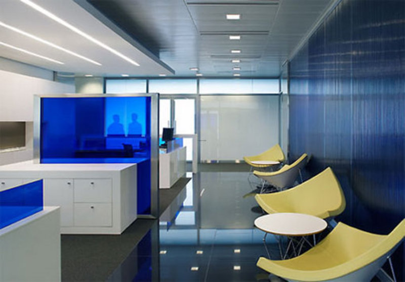 The Commercial Bank With Modern Minimalist Office Interior