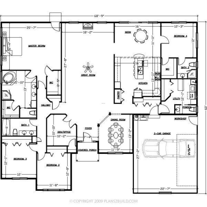 U shaped home plans floor plans for U shaped home with unique floor plan