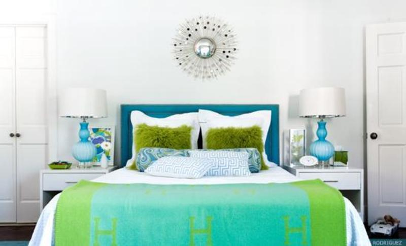 Blue And Green Bedroom Design Ideas / Design Bookmark #4524