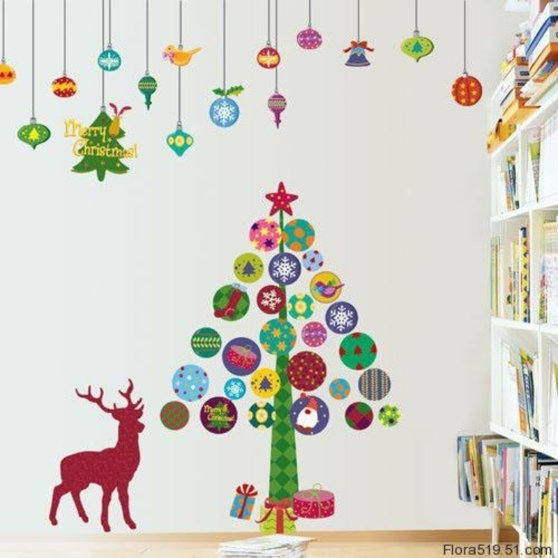 Christmas Tree Wall Sticker, Christmas Tree Wall Stickers