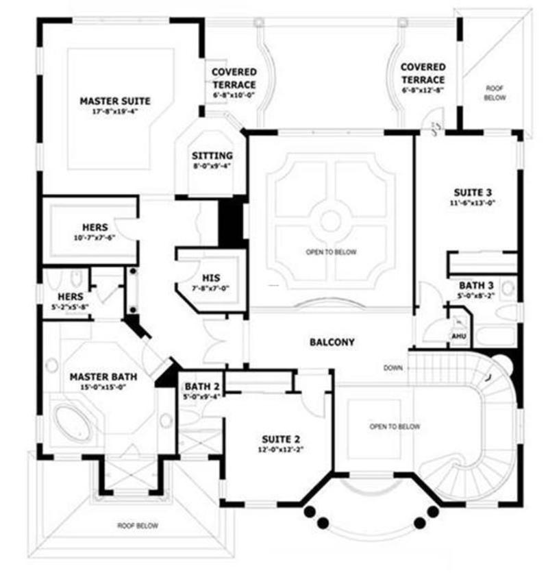 U shaped house plans floor plans for U shaped home designs