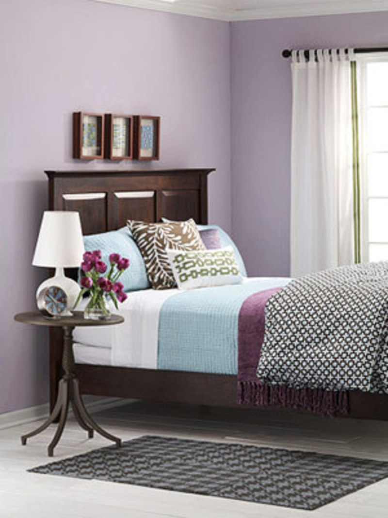 Stars and quills purple wine violet or plum bedroom for Blue purple bedroom ideas