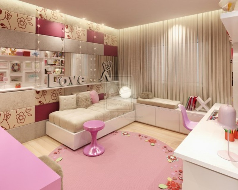 Bedrooms for teenage girls pink shades design bookmark 4690 for Room design ideas pink