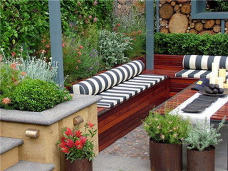 contemporary small patio garden design bookmark 4722