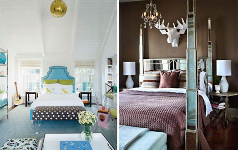 blue and brown bedroom decorating ideas