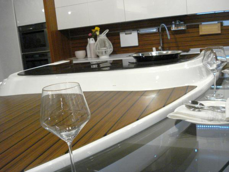 Boat Interior Design, Lucid Boat Kitchen Table