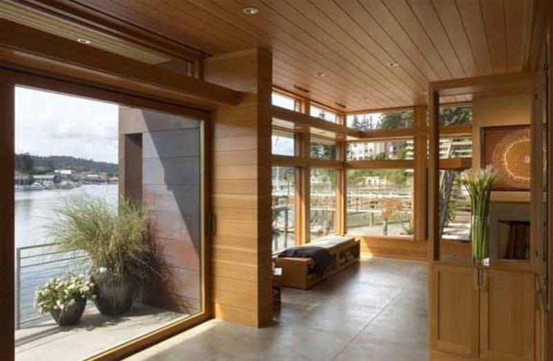 Boat Interior Design, Modern Boat House, Cliff House by OSKA architecture