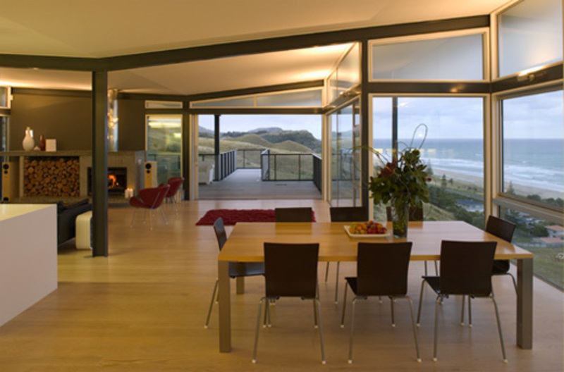 Attractive and lavish beach house design dining room for T shaped dining room