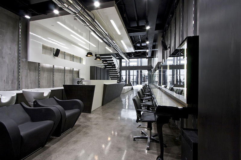 Modern Hair Salon Decorations, Futuristic Hair Dresser Salon Intuitive Interior Design