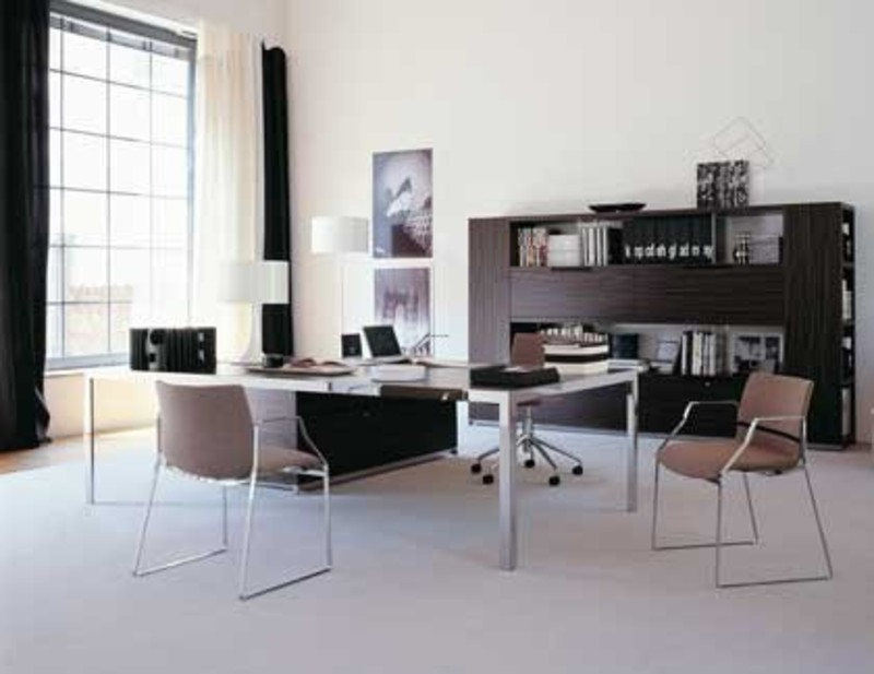 Twitter office plans by design simple but modern designs for Contemporary home office furniture
