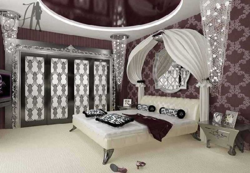 Luxury And Glamour Bedroom Design In Art Deco Style Home